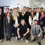 Superfinalisti, mentorji in komisija tekmovanja Mladi podjetnik